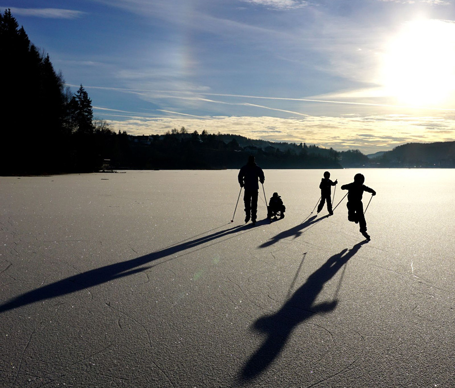 skating on Gjellum Lake