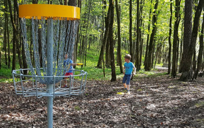 Frisbeegolf course